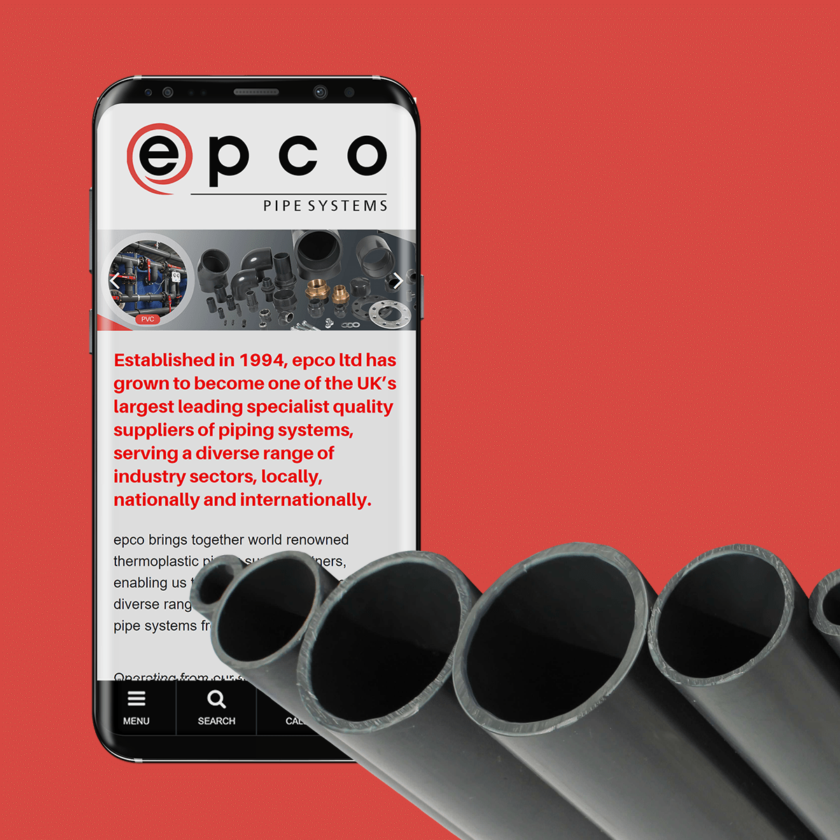 epco Pipe Systems - Web Design
