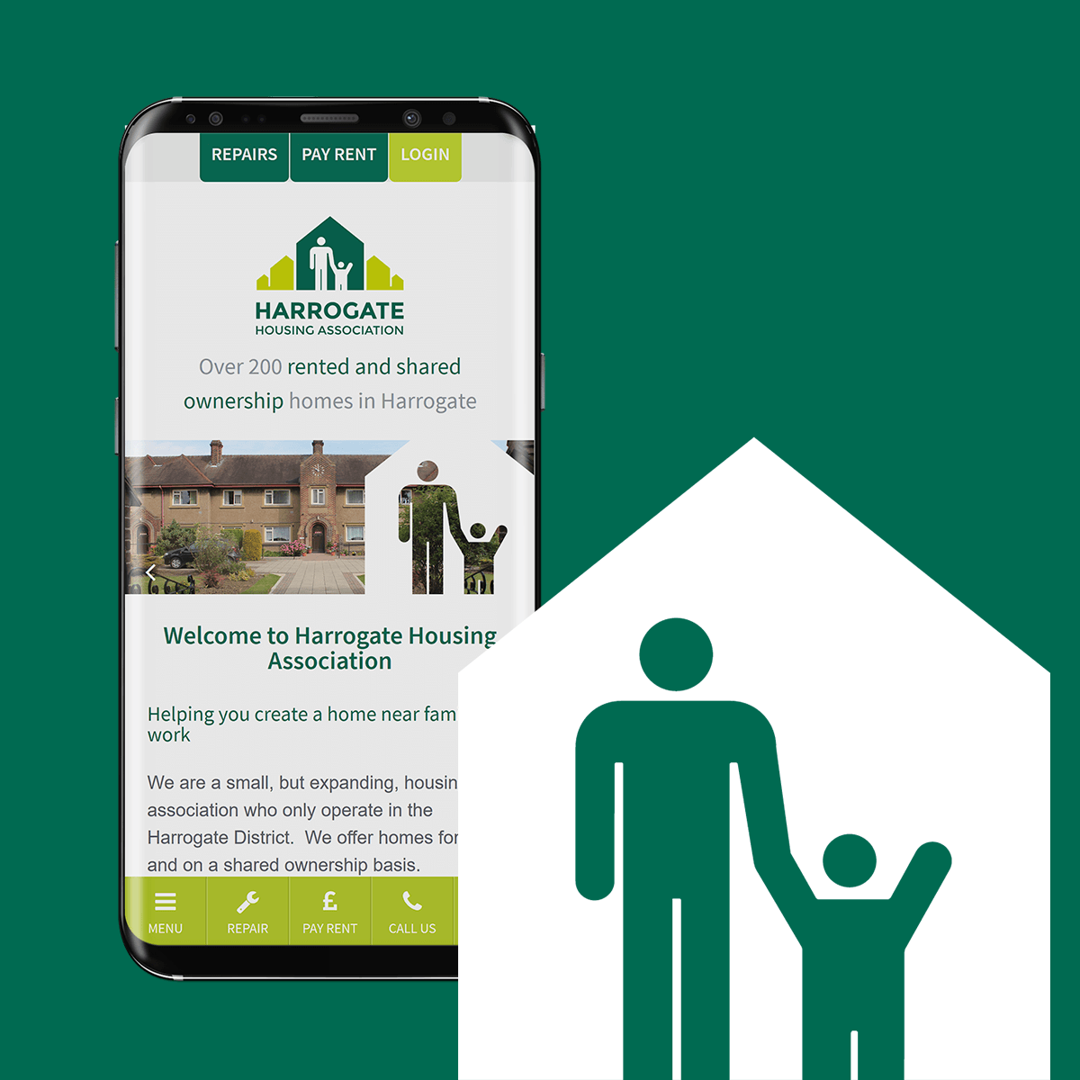 Harrogate Housing Association - Web Design